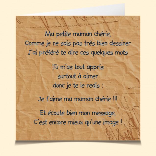 Carte Vocale Et Parlante Maman Poème
