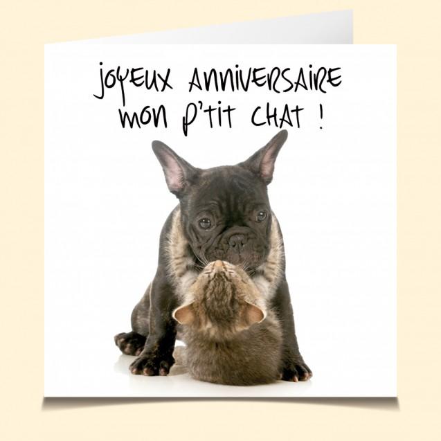 Carte Vocale Parlante Joyeux Anniversaire Chien Chat Humour