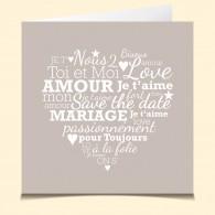 Mariage Mot Coeur