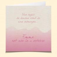 Naissance-Bonheur rose