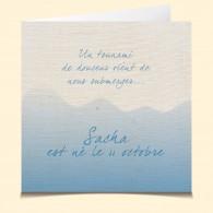 Naissance-Bonheur bleu