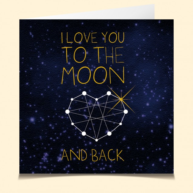 carte vocale parlante moon coeur amour